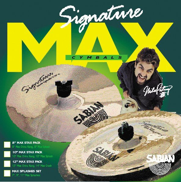 Sabian MIKE PORTNOY MID MAX STAX